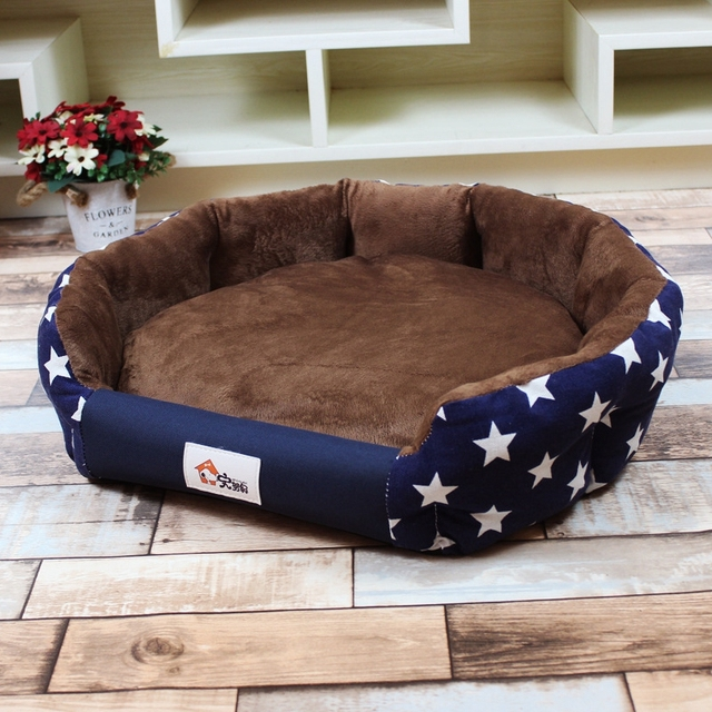 WCIC Stylish Warm Dog Bed 3 Sizes Soft Waterproof Mats for Small Medium Dog Autumn Winter Pet Beds Dog House Cat Bed Cama Perro 1