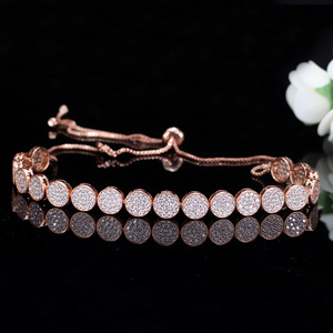 Image 3 - CWWZircons Adjustable Size Fashion Rose Gold Color Micro Pave Round Cubic Zirconia Baguette Chokers Necklace For Women CP006