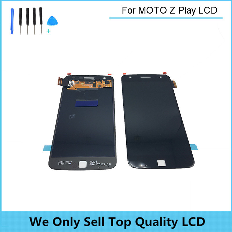 Replacement LCD for Motorola MOTO Z Play Droid XT1635 LCD Screen Display with Touch Digitizer Assembly Free Shipping+ Tools new original lcd replacements for motorola moto g xt1032 xt1033 lcd display touch digitizer screen with frame assembly tools
