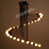 Retro loft american country simple creative spiral pendant light for living room cafe bar staircase Foyer,E27*26 bulb included