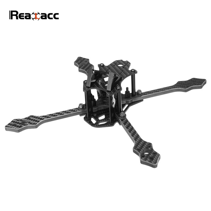 Realacc Blackbird 210N 210mm Normal X Racing Drone 5mm Arm Carbon Fiber Frame Kit For RC Models Camera Motor w/ PDB 5V & 12V realacc kt100 100mm carbon fiber frame kit for rc quadcopter multirotor fpv camera drone x type frame accessories purple
