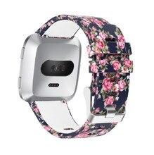 Impresso Silicone Banda Substituição Strap Pulseira de Pulso Pulseira para Versa Novo Fitbit Inteligente Relógio De Fitness para Mulheres Dos Homens, S/L Tamanho