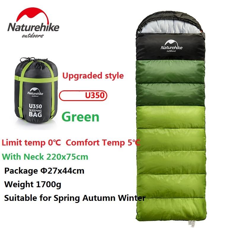 Naturehike Фабричный спальный мешок для путешествий на весну, осень, зиму, теплый портативный походный спальный мешок для взрослых в помещении - 2