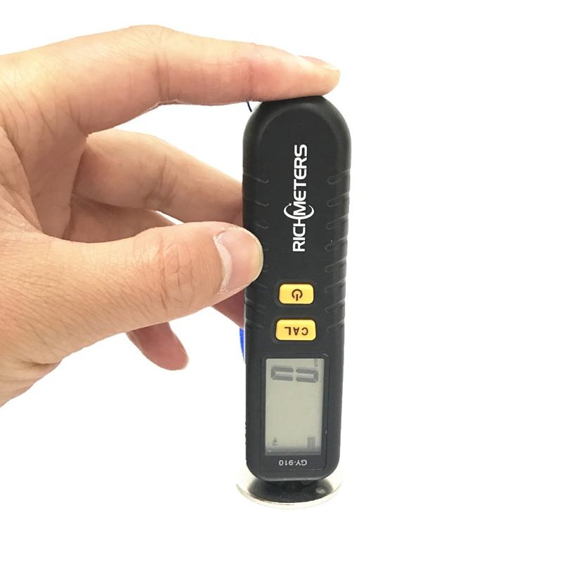 GY910 Digital Rivestimento Calibro di Spessore 1 micron/0-1300 Auto Spessore del Film di Vernice Tester del Tester di Misura FE/ NFE Manuale Russo