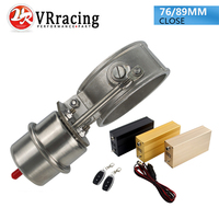 VR NEW Vacuum Activated Exhaust Cutout 3 76MM Or 3 5 89MM Close Style With Wireless