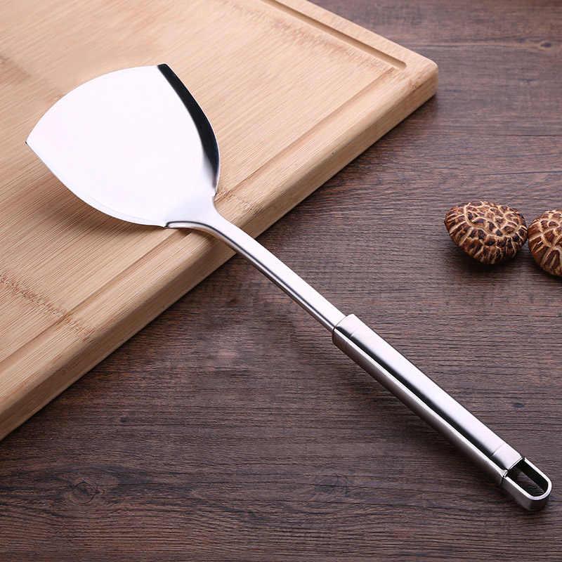 Ложка для супа из нержавеющей стали с антипригарным покрытием, посуда для кухни, лопатка для приготовления пищи, ковш, набор посуды, Вращающаяся база, принадлежности для хранения