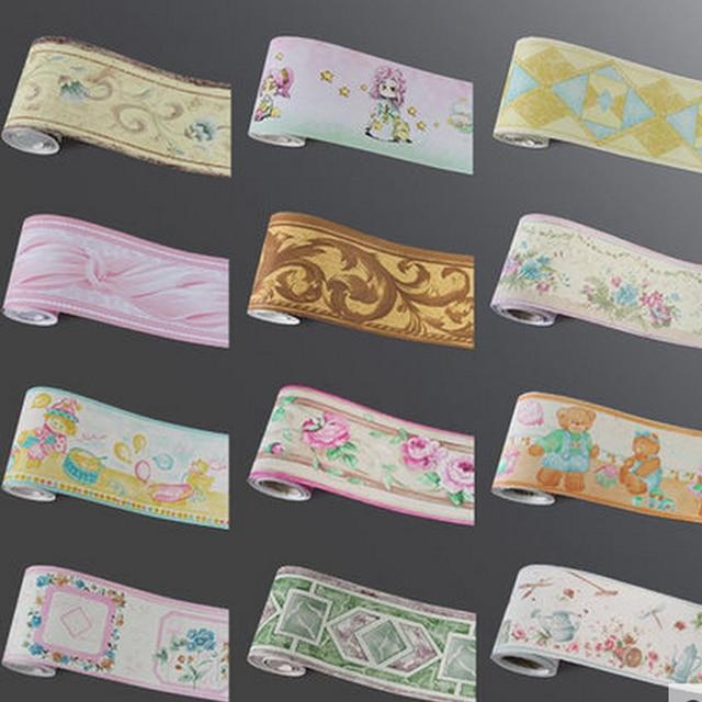 10Meters Self Adhsive PVC Wallpaper Border Home Decor Waterproof Kitchen  Wall Skirting Bathroom Wall Waistline Wall