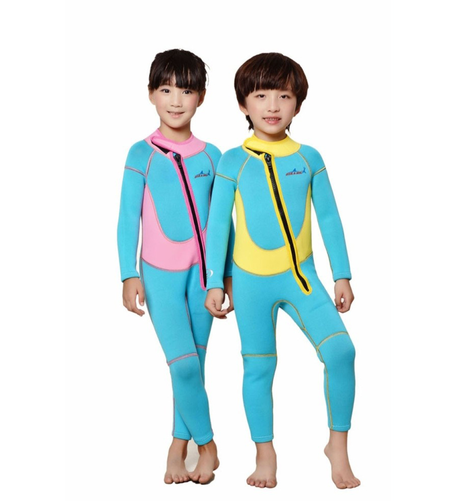 2mm One-piece Wetsuits Neoprene Youth 2017 Premium SX/S/M/L/XL Youths Pink Yellow Shorty Full Jumpsuit Swimwear Core Warmer