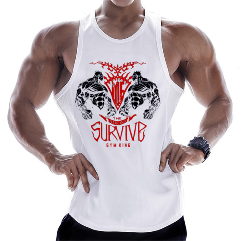 2019 New Brand Mens bodybuilding   Tank     Tops   Men Breathable Vests Men's Cotton Fitness Gyms   Top   Men Gyms mens   tank     top   M-XXXL