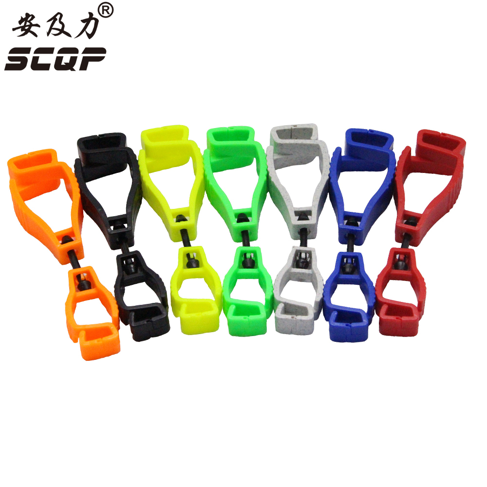 Plastic Working Glove Clip  AT-1 Work Clamp Safety Work Gloves Clips Guard Labor Supplies Make Imprint OEM Manufacturer