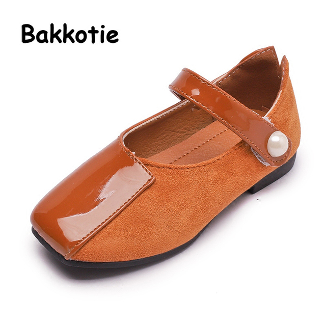 Bakkotie 2018 Autumn New Fashion Baby Girl Pu Leather Pearl Shoes Kid Black  Flats Moccasins for Children Brand Soft Mary Jane d75b74681355