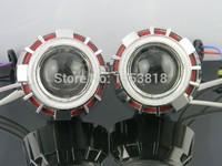 3 0HQT Ccfl Double Angel Eyes 3 Inch HID Bixenon Projector Lens H4 H1 H7 H13