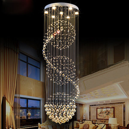 Creative K9 Crystal Chandelier Villa Living Room Large Chandelier Lamp  Stairs Lustre Suspension Light Led CrystalOnline Buy Wholesale led crystal chandeliers from China led  . Discount Pendant Lighting Uk. Home Design Ideas