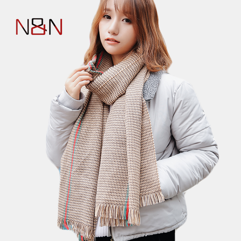 Winter Cashmere Warm   Scarf   Women Luxury Brand 2017 Women Designer Long Plaid Thick Acrylic Shawls And   Scarves     Wraps
