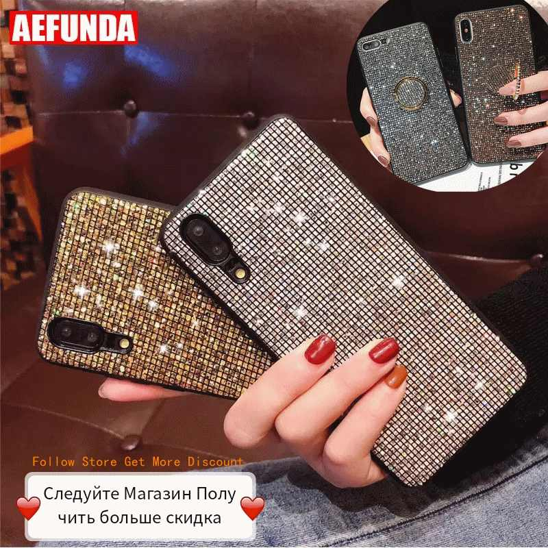 For Huawei P30 Mate 20 Pro Lite Case P Smart 2019 For Huawei P20 Pro Lite Case P10 Honor 10 8X Cases Glitter Diamond Silicone