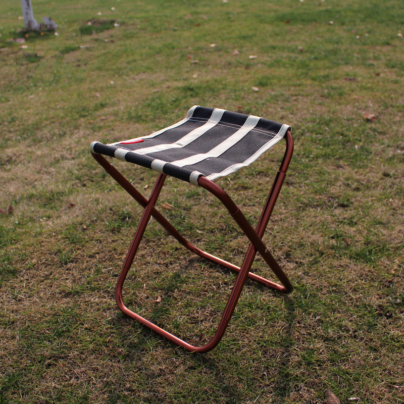 Image 5 - VILEAD 2 colors Portable Camping Stool Ultralight Folding Chair Aluminium Outdoor Picnic Beach Hike Fishing Foldable 22*23*28cm-in Camping Stools from Sports & Entertainment