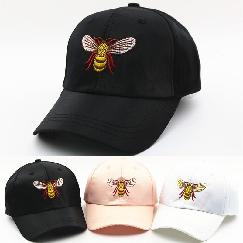Children Bee Baseball Cap Hip Hop Snapback Caps Silk Girl Boy Embroidery Casual Outdoor Sun Hat Holiday Travel Cap