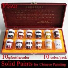 12 видов цветов Solid Картина краски натуральный пигмент для китайской живописи минеральный пигмент краски
