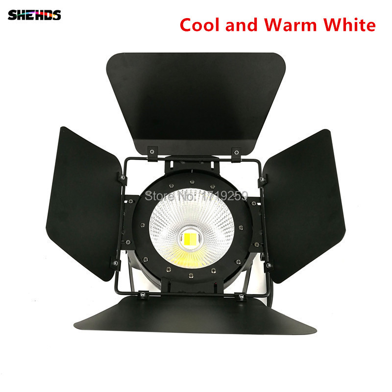 LED Par Light COB 100W with Barn Doors High Power Aluminium cool white and warm white Wash Strobe Effect Stage Lighting t 8 lot 100w rgbw 4 in 1 cw ww cob par 64 led stage studio par light with barn doors