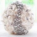 Gorgeous Crystal Wedding Bouquet Broche Rojo Ramo de Flores Artificiales de La Boda Nupcial de la Novia Ramos Accesorios de La Boda de dama de Honor