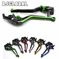 2016 Motorcycle Dual Colors Adjustable Lever Regular CNC Brake Clutch Levers For Kawasaki ZX6R/636 ZX10R Motorbikes