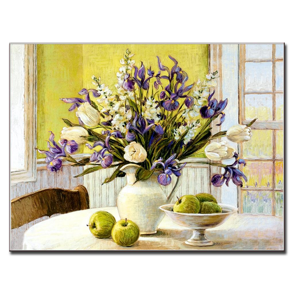 1 Pcs Classic Still Life Flowers Bottle Canvas Painting Modern ...