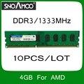 Оптовая продажа 2 ШТ./ЛОТ БАРАНОВ Бренда 8 ГБ = 4 ГБ + 4 ГБ PC3-10600 1333 МГц Двухканальной DIMM Памяти для Настольных ПК Для intel и AMD Системы