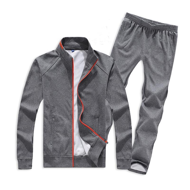 Plus Size Men Sets 5XL 6XL 7XL 8XL Sportswear Gym Clothing Spring Autumn Keep Warm Sport
