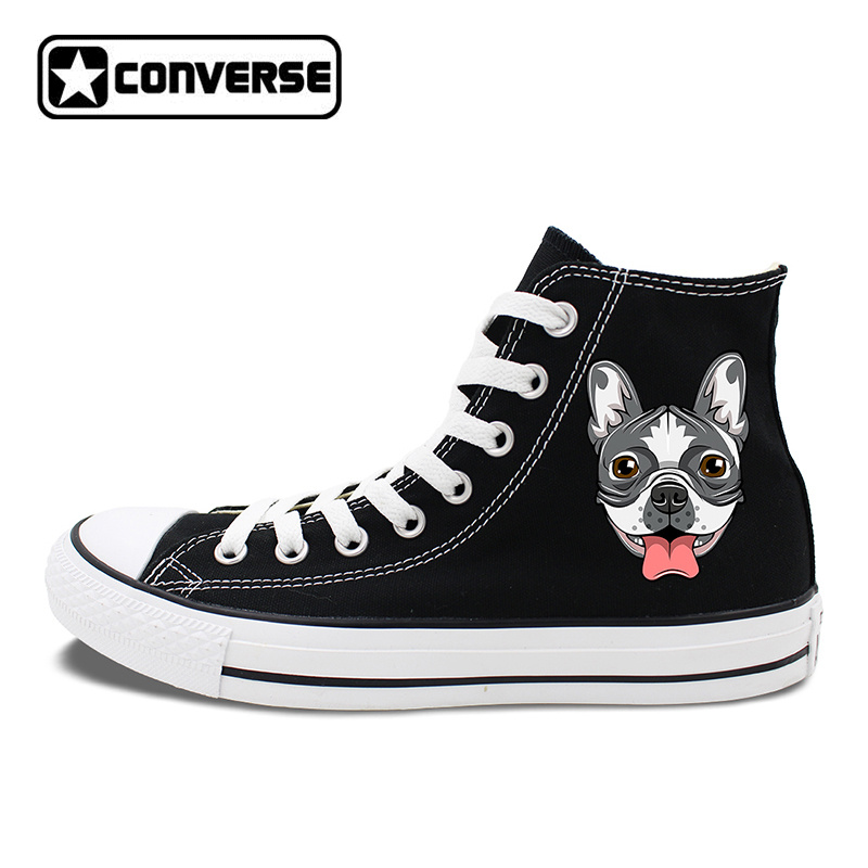 Original Design Dog Converse Shoes French Bulldog Head Canvas Sneakers Chucks Taylor Men Women Skateboarding Shoes french workplace design