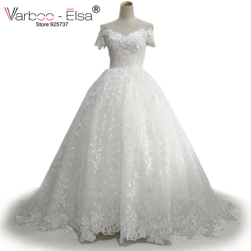 Sweetheart Wedding Dress With Cap Sleeves: VARBOO_ELSA Ballgown Wedding Dress Sweetheart Cap Sleeve