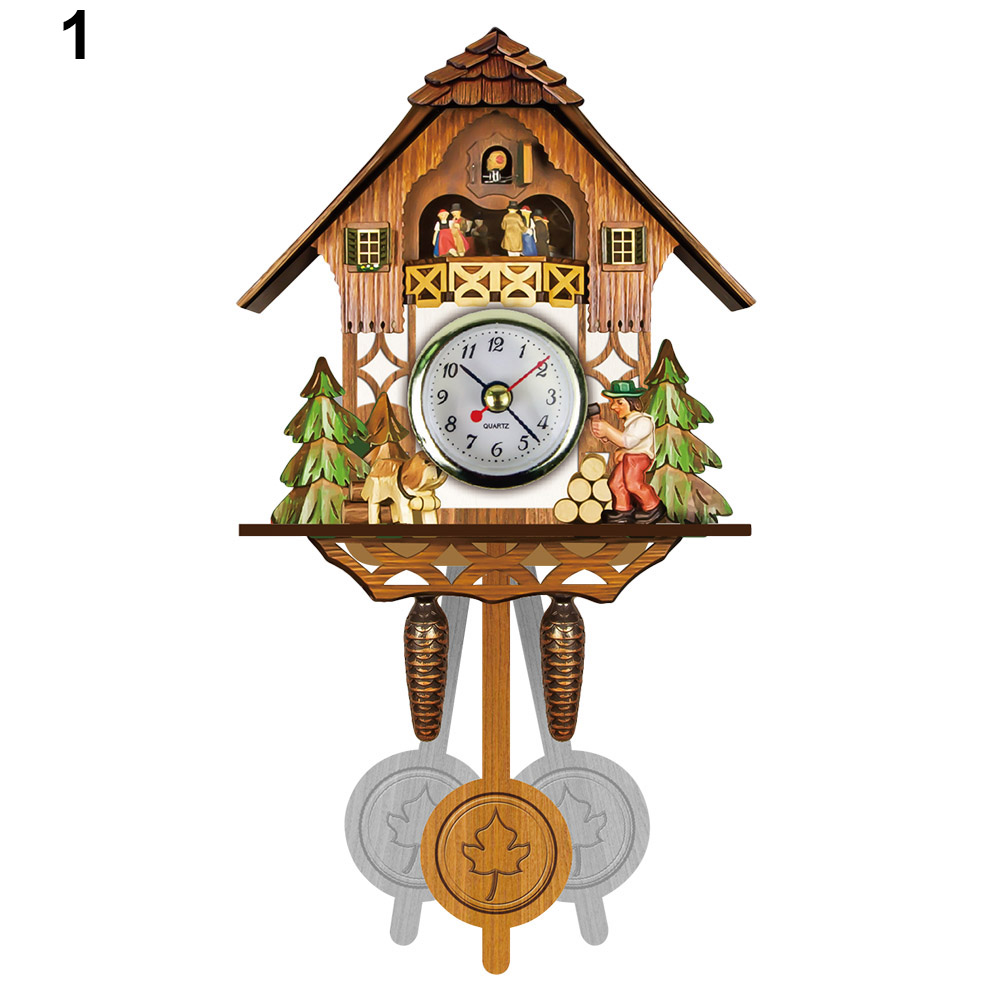 Antique Wooden Cuckoo Wall Clock Bird Time Bell Swing Alarm Watch Home Art Decor GQ999(China)