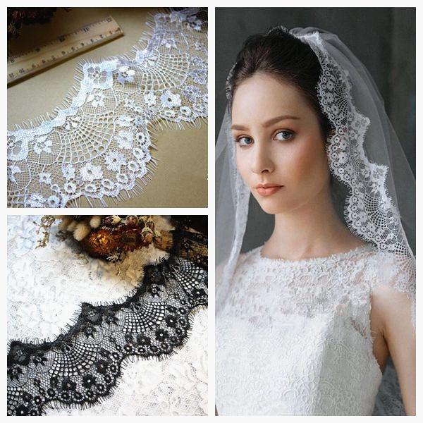 18m/ Lot Eyelash Lace Fabric...