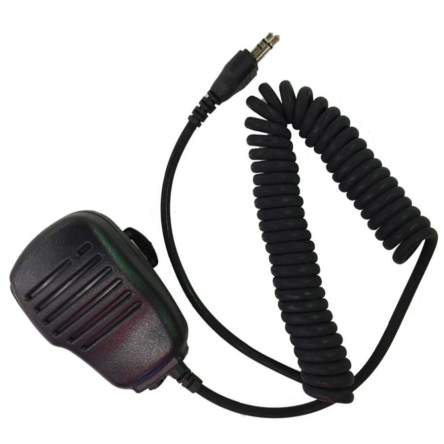 5pcs Shoulder Speaker Mic Microphone For ICOM Walkie Talkie IC- V8 IC-V80 IC-V80E IC-V82 IC-V85 IC-F4002 IC-F4003