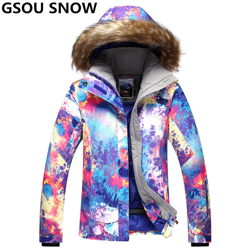 GSOU SNOW High Quality Girls Snow Jacket Women Ski Jacket Waterproof 10K Thermal Skiing And Snowboarding Snowboard Jacket Female brand gsou snow technology fabrics women ski suit snowboarding ski jacket women skiing jacket suit jaquetas feminina girls ski
