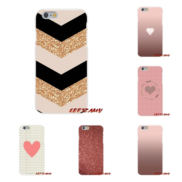 Rose Gold Glitter Sparkles Wallpaper Accessories Phone Cases Covers For IPhone X 4 4S 5 5S