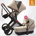 2016 babysing nueva elevadas de lujo cochecito de bebé con capazo, 2 en 1 sistema de viaje, cochecito/cochecito de niño