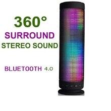 Светодиодный bluetooth-динамик, портативная зарядка, 360 градусов, USB DC 5 В, объемный стерео звук, беспроводной Звук, бас-динамик