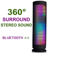 LED lights Bluetooth Speaker Portable Power Recharged 360 Degree USB DC 5V Surround Stereo Sound Wireless Sound bass speaker