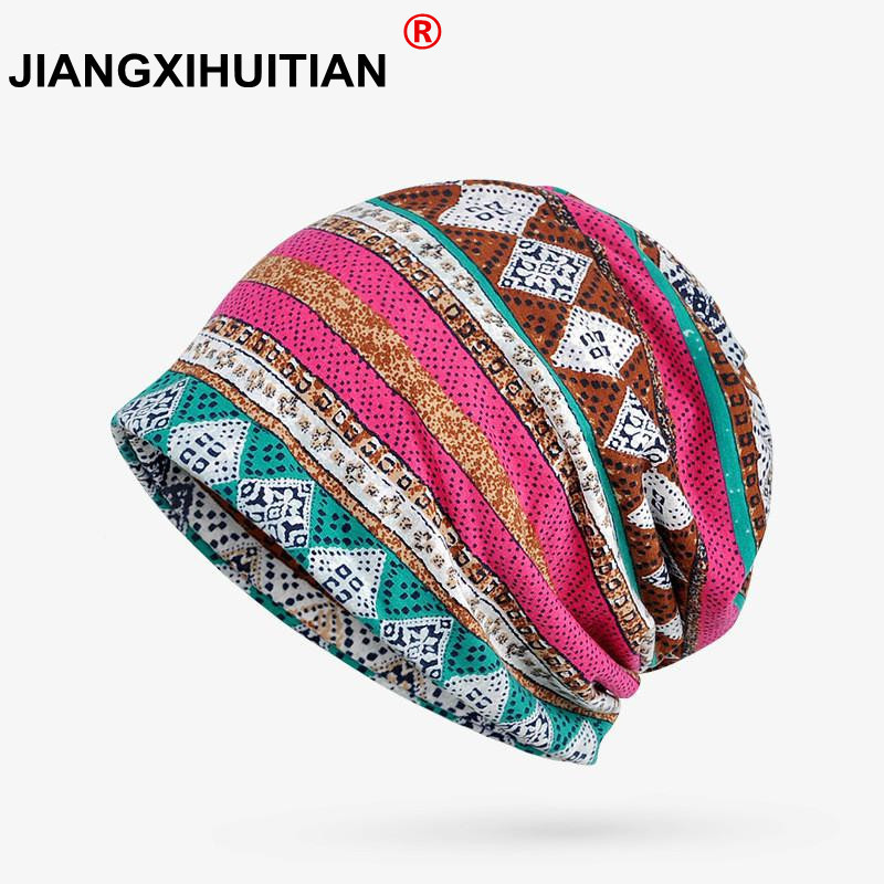 Winter   Beanie   Women's Winter Hats Female Bonnet Femme Turban Hat Style Stocking Hat Cap Thin Cotton   Beanie     Skullies     Beanies
