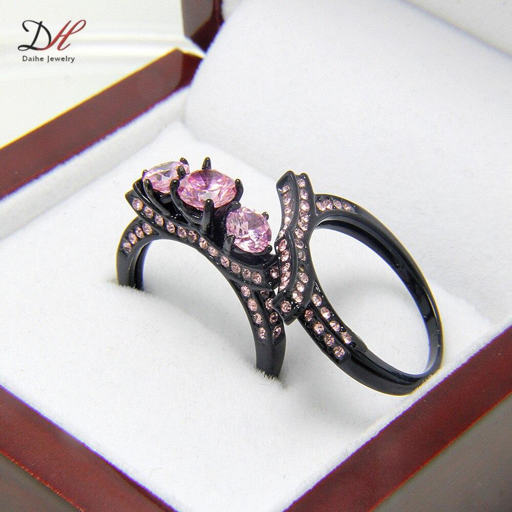 download - Pink And Black Wedding Ring Set