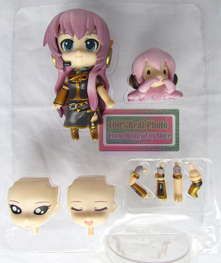 10cm Japanese Anime Figure Cute Nendoroid Doll Megurine Luka Action Figure 93# face transplantable Model Toy 10cm spider man japanese anime lovely swing doll cute black panther mobile phone holder shaking head action