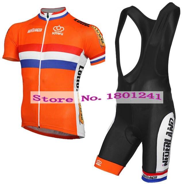 9bd7e884e placeholder 2017 cycling jersey clothing wear orange dutch Holland  Netherlands riding racing pro team black gel pad