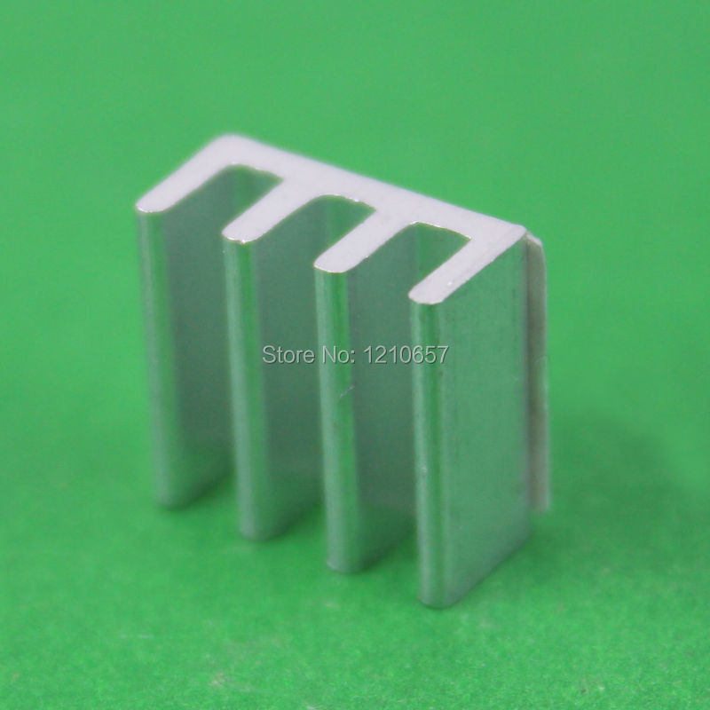 20Pieces lot  Aluminum Heat sink IC Led Memory Chip Heatsink Cooling Cooler 11 x 11 x 5mm