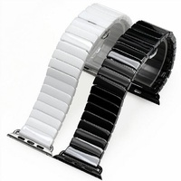 Ceramic Replacement Wrist Band Bracelet with Stainless Steel Buckle Clasp Ceramics Strap for iWatch Apple Watch 38/40mm 42/44mm
