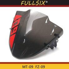 Нея MT09 мотоцикл небольшой ветровое стекло ветровой экран для yamaha mt09 MT-09 FZ-09 MT 09 FZ09 отправить наклейки