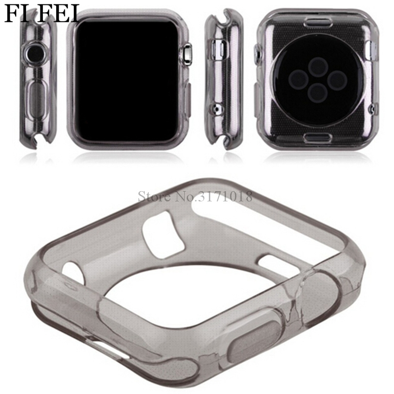 все цены на FI FEI Ultrathin Silicon Soft TPU Protector Case Cover Skin Shell For Apple Watch Series 1 38mm 42mm Accessories Coque 38&42mm онлайн