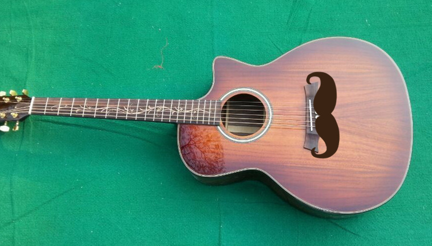 2019 New Factory KOA body acoustic guitar Chaylor KOA electric acoustic guitar Free Shipping Sunset finish