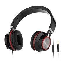 Fones de ouvido estéreo, headsets gaming capa-tipo 3D estéreo fone de ouvido com fio para telefones celulares, computadores