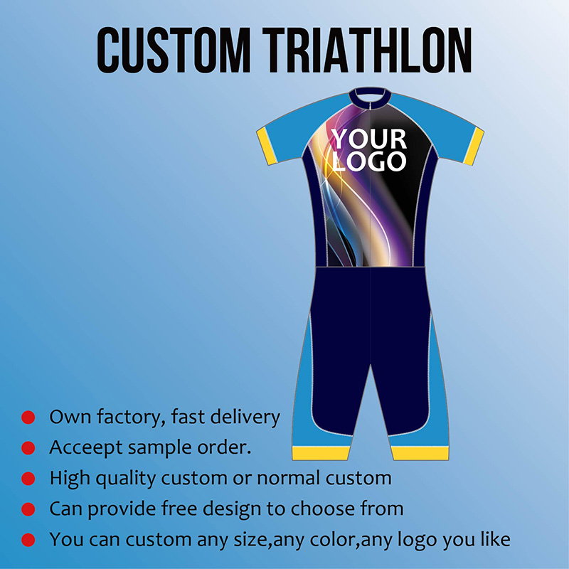 Custom jersey Triathlon Cycling Run Swim Clothing High elasticity Breathable Windproof Factory price Customize High Quality