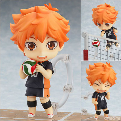 Free Shipping Cute 4 Nendoroid Anime Haikyuu!! Hinata Shoyo Boxed 10cm PVC Acton Figure Collection Model Doll Toy Gift #461 free shipping cute star wars robot r2d2 r2 d2 cos batman 10cm boxed pvc action figure collection model doll toy gift